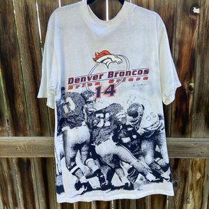Vintage Denver Broncos All Over Print